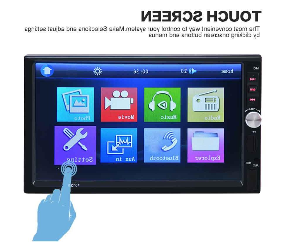 1x 7inch Car MP5 Screen Radio Camera
