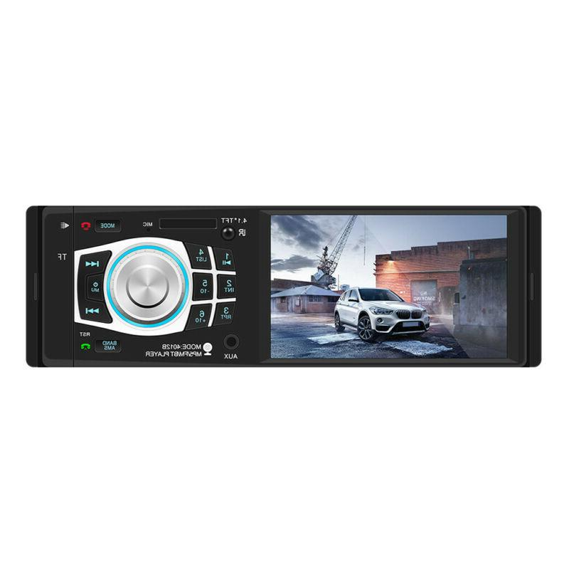 """4.1"""" In-dash Car HD Stereo MP5 Player 1 DIN AUX 2"""