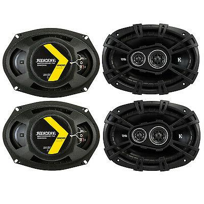 4 Kicker 43DSC69304 D Series 6x9 140 Watt 3 Way Car Audio Co