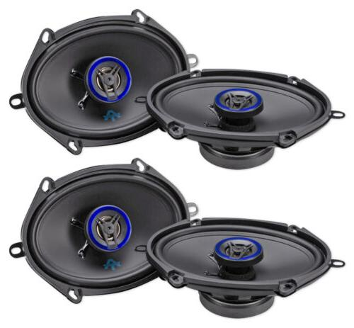 "AUTOTEK ATS5768CX 5x7""/6x8"" 1000 Watt 2-Way Car Audio Coaxi"