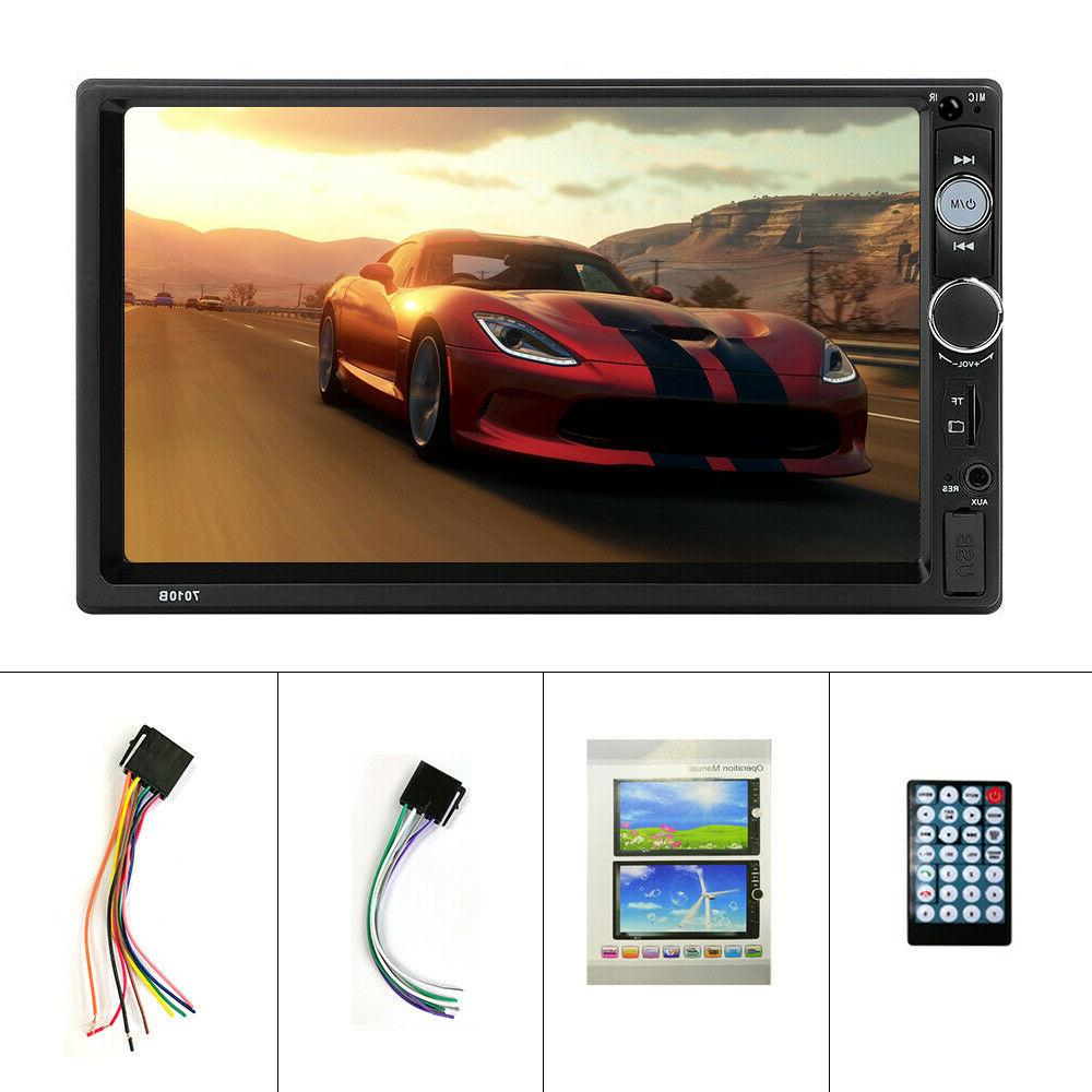 """7"""" Double MP5 Player Bluetooth Screen USB"""