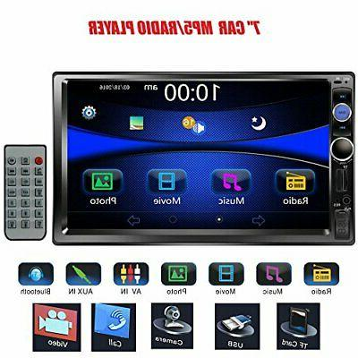 7 double din touchscreen in dash bluetooth