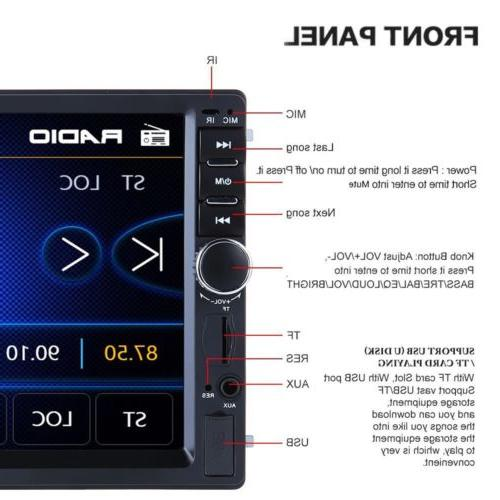 Car Stereo Radio Audio Din Screen USB AUX