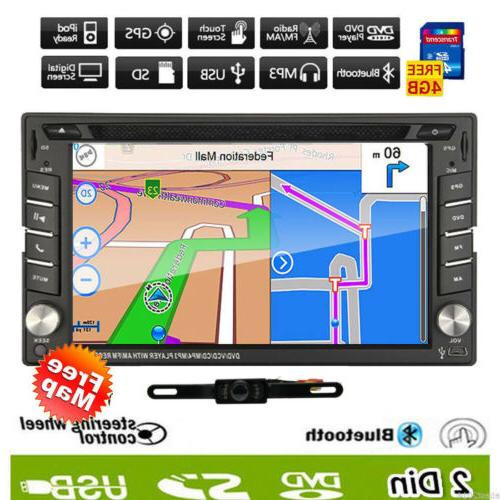 Backup Double Car DVD mp3 Player Bluetooth Map