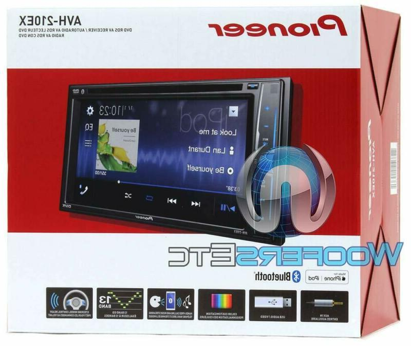 """Pioneer Avh-210Ex 2-Din 6.2"""" Dvd Receiver With"""