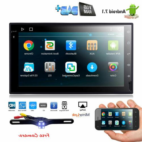 Backup Camera+GPS Car Stereo Radio DVD mp3 Player Bluetooth Map