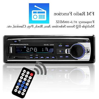 Bluetooth Car Stereo In-Dash FM Aux Receiver MP3 Radio