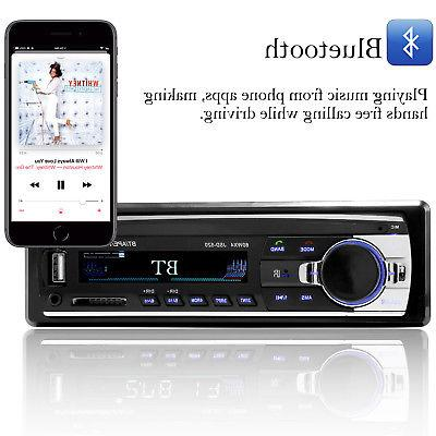 Bluetooth In-Dash FM Receiver SD Radio Player