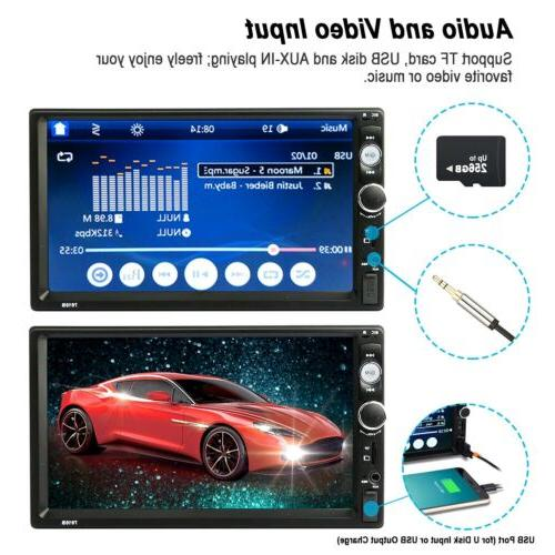 🔥Car Stereo FM Player Touch Screen +Rear Camera