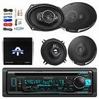 "Bluetooth CD/AM/FM Receiver, 2x 6x9"" Speakers, 2x 5-1/4"""