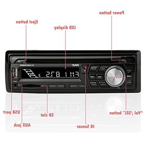 Wireless Stereo Kit DIN Universal Size Receiver, Calling, Waterproof Speakers, CD MP3/USB/SD AM/FM Radio