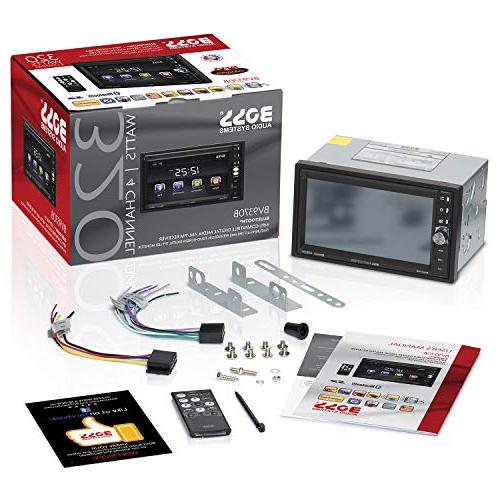 BOSS Audio BV9370B Stereo Double Din, Bluetooth and Hands Free Touchscreen Player, Card Slot, AUX AM/FM