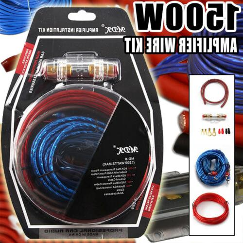 8 Gauge Ga 8awg Car Amplifier Amp Installation Wiring Wire Manual Guide