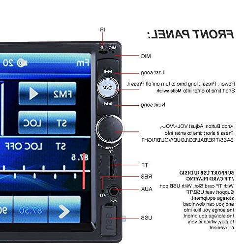 CARED Player,Touch Screen,Universal Car Audio,Bluetooth Car Receiver,Steering Wheel Remote