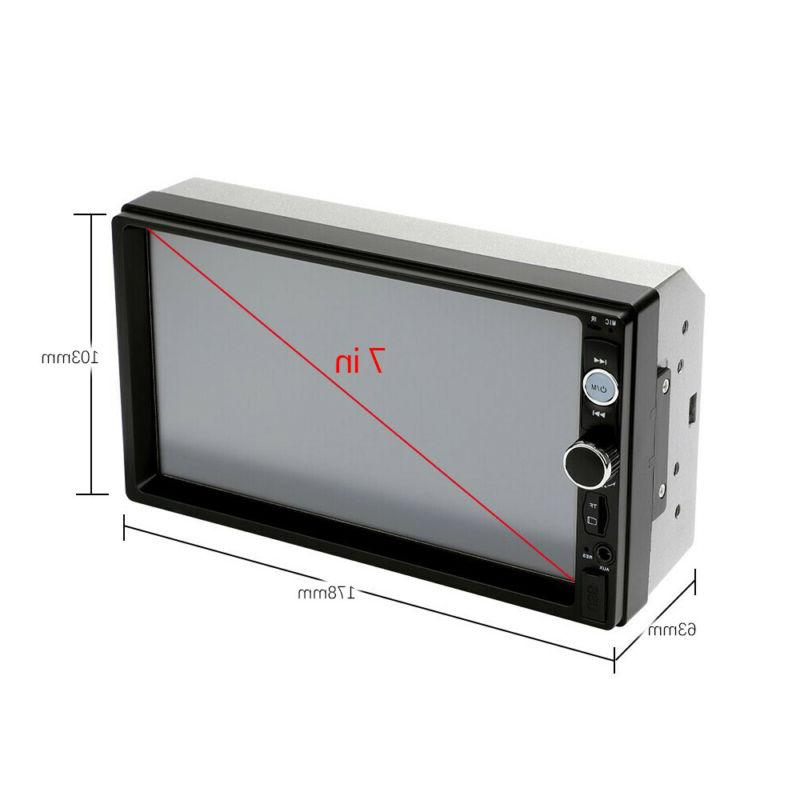 """Car Stereo Audio Double 2 Din 7"""" Touch Screen USB"""