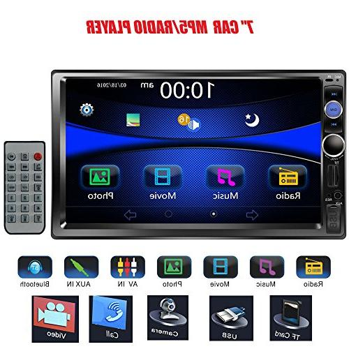 double din touchscreen dash bluetooth