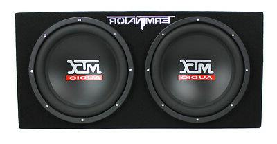 MTX Loaded Audio Subwoofers with Enclosure