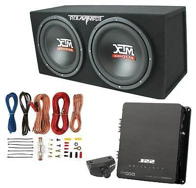 dual loaded car audio subwoofers