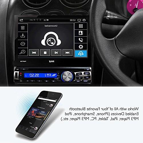 Single Din DVD Receiver Bluetooth - 7-Inch Car Stereo Receiver Hands-Free Call Answering Radio Car System