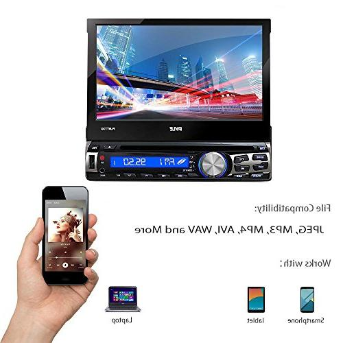 Single Bluetooth 7-Inch Stereo Touch Hands-Free Radio CD/DVD Car System