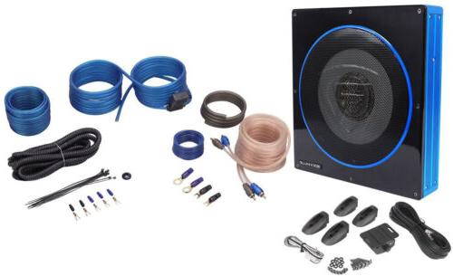 Rockville RW10CA Watts Peak/200 Watts RMS Slim Powered/Active Sealed Car Subwoofer