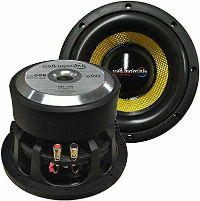 "Subwoofer 8"" Competition Car Audio Speaker American Bass 800"