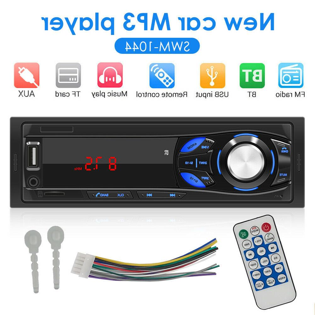 SWM-1044 1 DIN Car Stereo MP3 Player Radio AUX TF Card U Dis