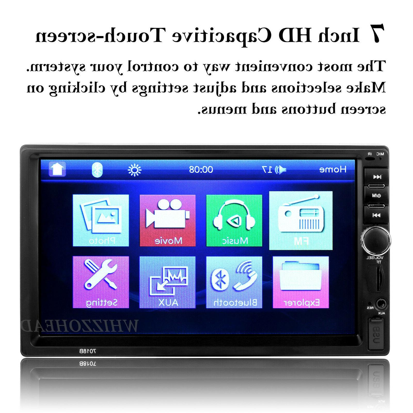 Bluetooth Player Stereo Radio Car 7'' MP5 Touch Screen Free