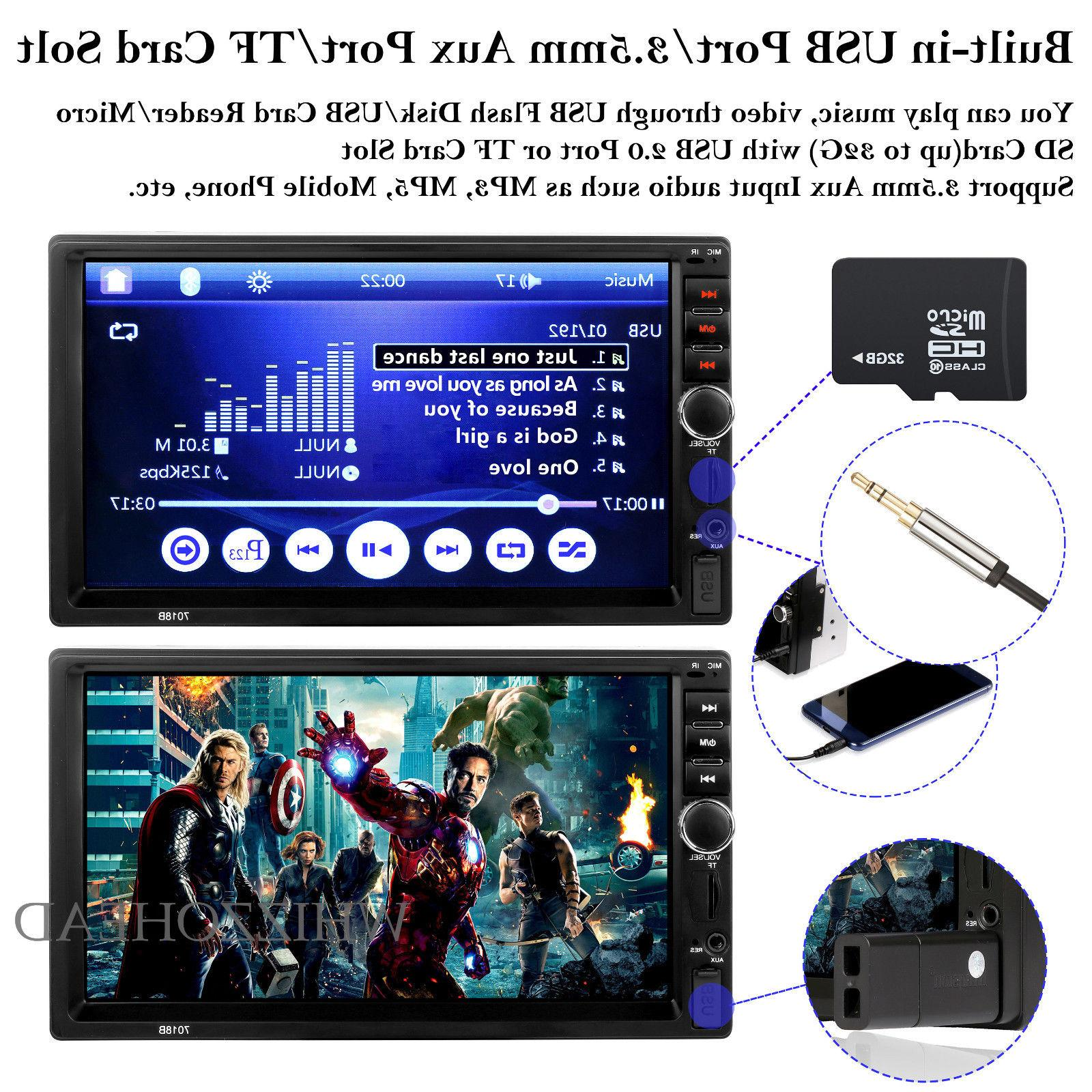 Bluetooth Player Stereo Radio 7'' MP5 Screen Free