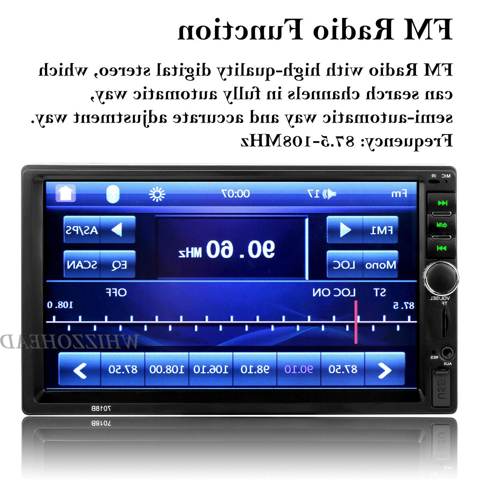 Bluetooth Player Stereo Radio Car MP5 Touch Screen Free
