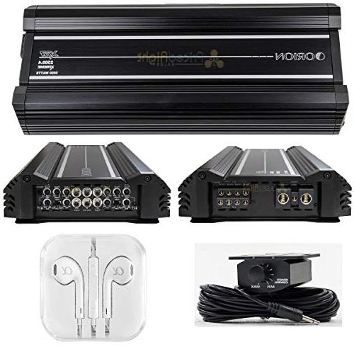 Orion XTR1000.4 Four Car Amplifier Built-in Low Pass Filters, Bass Tri-Mode
