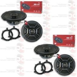 "NEW 4 x POLK AUDIO 6.5"" 2-WAY CAR AUDIO BOAT MARINE UTV COAX"