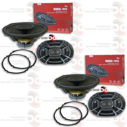 "NEW 4 x POLK AUDIO 6"" x 9"" 3-WAY CAR AUDIO BOAT MARINE UTV C"