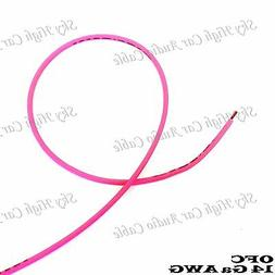 OFC 100 ft 14 Ga AWG Copper Primary Remote Wire PINK Sky Hig