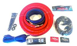 Oversized 1/0 Ga OFC AWG Amp Kit Twisted RCA Red Black Compl