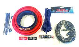 Oversized 4 Ga CCA AWG Amp Kit Twisted RCA Red Black Complet