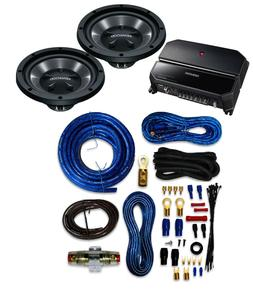 Kenwood P-W1221 Car audio Amplifier And Subwoofer Package Wi