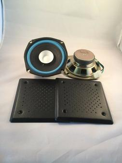 """Pair 5"""" 1/4 inch Quality Dual Cone Car Audio  with metal gri"""