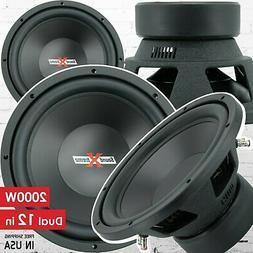 Pair of SoundXtreme 12 Inch Car Audio Subwoofer with DVC Pow