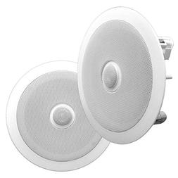"Pyle 6.5"" Pair of Built-In Ceiling or Wall Mount Speakers,"