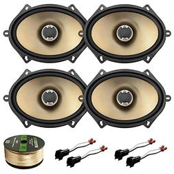 "2 Pairs of Polk Audio Car Audio 5"" X 7"" 2-Way Car Audio Spea"