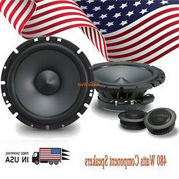 "ALPINE PRO  6.5"" CAR AUDIO 240W 2-WAY SILK TWEETERS 6 1/2"" C"
