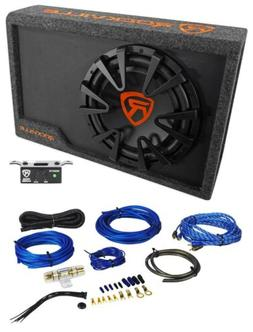 "Rockville RWS12CA Slim 1200 Watt 12"" Powered Car Subwoofer E"