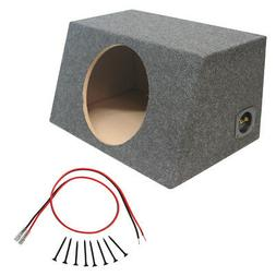 """Sealed 10"""" Car Audio Hatch Subwoofer Enclosure Stereo Bass S"""