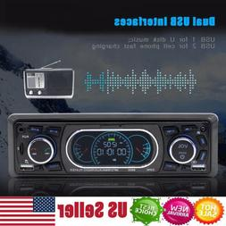 Single 1DIN Car Stereo MP3 Player Bluetooth FM Radio With Ca