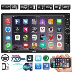 "SWM 2 DIN Car Stereo MP5 Player 7"" Touch Screen Bluetooth FM"