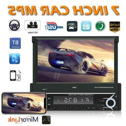 SWM T-110 Bluetooth Car Stereo 7 inch Retractable Screen RCA
