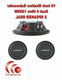 Massive Audio UFO10 10 Inch Shallow Subwoofer - High Powered