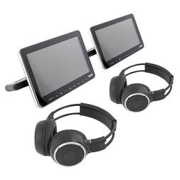 Pyle PLHRDVD90KT Dual Vehicle Headrest Mount CD/DVD Player S