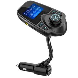 Nulaxy Bluetooth Car FM Transmitter Audio Adapter Receiver W